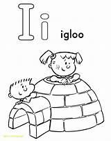 Igloo Drawing Alphabet Coloring Getdrawings sketch template