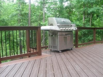railing  cut   grill house decks pinterest