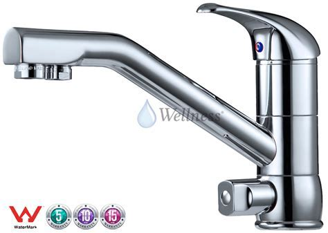 Hot Cold Filtered Kitchen Mixer Tap Three Way Tri flow