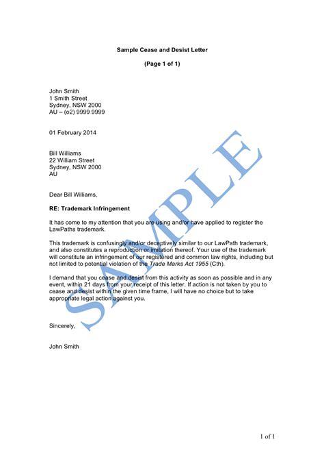 cease  desist letter sample lawpath