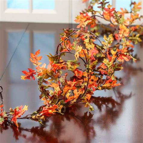 autumn artificial oak leaf garland garlands floral supplies craft supplies