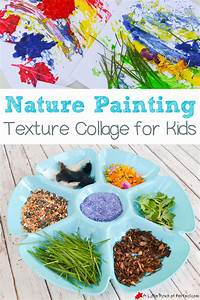 Nature Painting Texture Collage For Kids