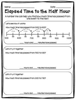 elapsed time 50 differentiated printables activities