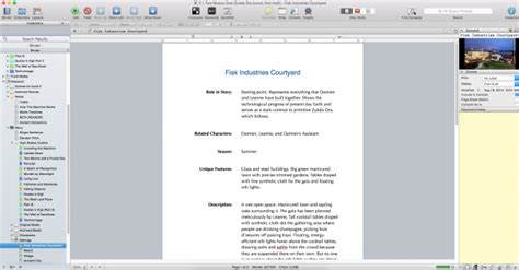 scrivener templates how to create a setting sketch using scrivener