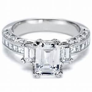 this is my engagement ring except my center stone is With emerald cut engagement ring with wedding band