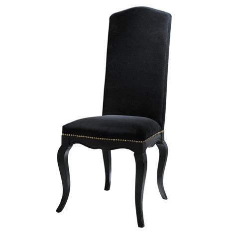 housses de chaises maison du monde chaise en velours noir barocco maisons du monde