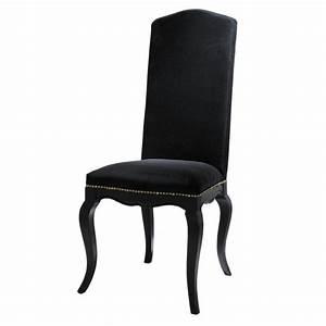Chaise Jardin Maison Du Monde : chaise en velours et bois noir barocco maisons du monde ~ Premium-room.com Idées de Décoration