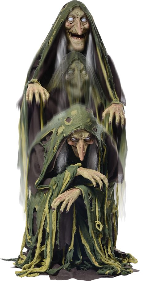 Swamp Hag Rising Animated Halloween Prop Witch Haunted