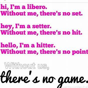 Outside Hitter ... Volleyball Cheers Quotes