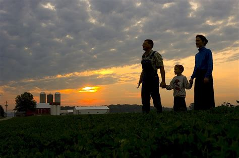 photo family farm sunset rural  image