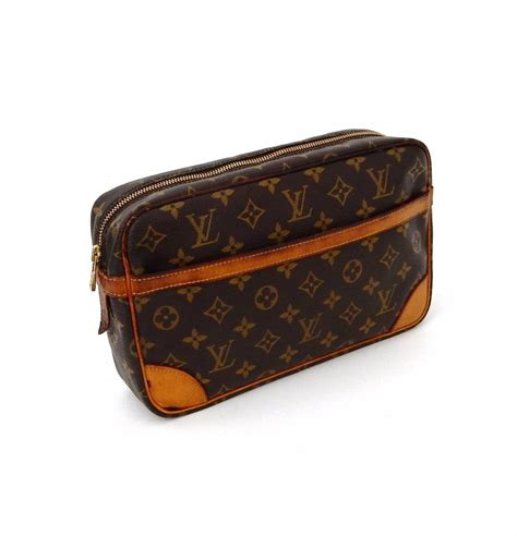 louis vuitton brown compiegne vintage  monogram canvas