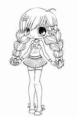 Coloring Kawaii Popular sketch template