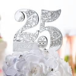25 wedding anniversary 25th anniversary cake topper wedding cake toppers wedding essentials wedding favors