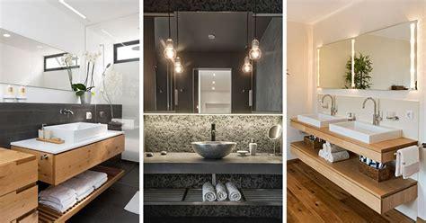 Bathroom Design Idea-an Open Shelf Below The Countertop