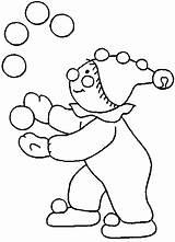 Clown Juggler Coloring Drawings sketch template