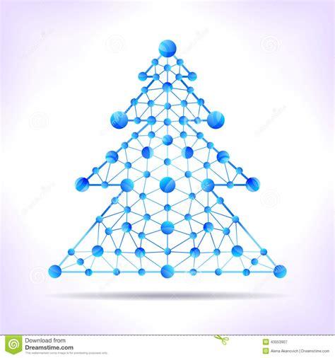 xmas tree structure blue molecule tree stock vector illustration of atom communication 43053907
