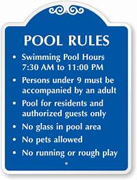 pool rules sign Custom Swimming Pool Signs | Free Shipping Available