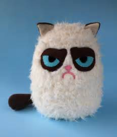 grumpy cat stuffed animal fluffy grumpy cat plush by fizzimizzi on deviantart