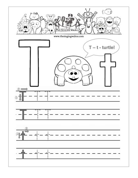 20 learning the letter t worksheets kittybabylove com