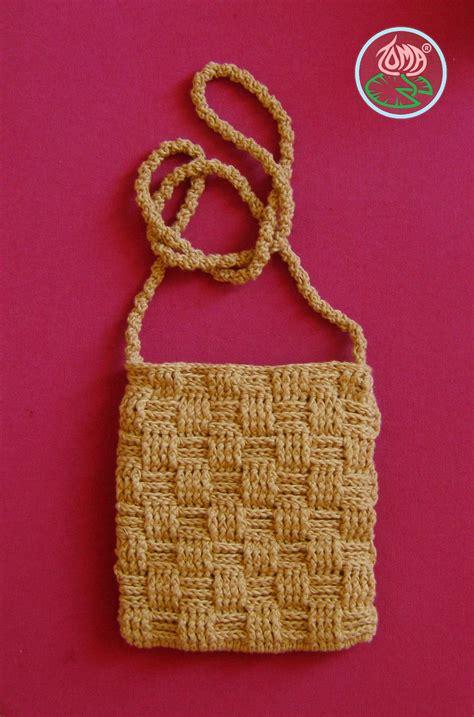 pattern crocheted   shoulder mini purse