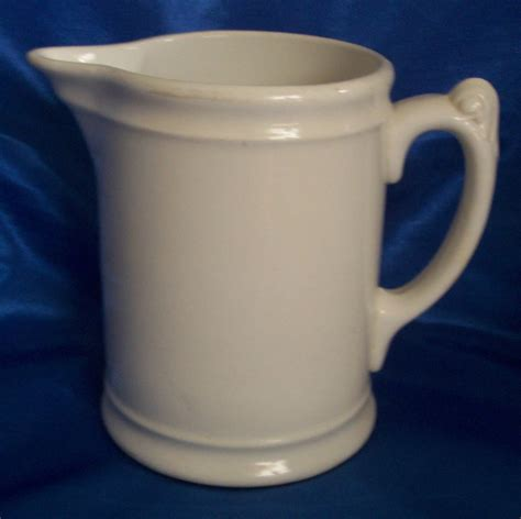 milk pitcher 1259 blue antique homer laughlin ironstone pitcher simple white