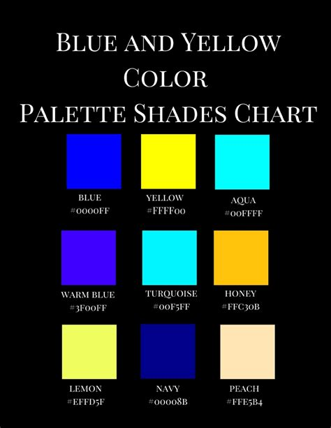 I'm fabrizio, creator and maintainer of coolors. Blue and Yellow Color Palette Shades Chart: A Reference Coffee Table Picture Fashion Art Style ...