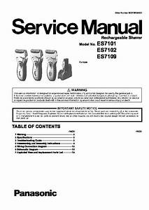Panasonic Es7101  Es7102  Es7109 Service Manual  U2014 View