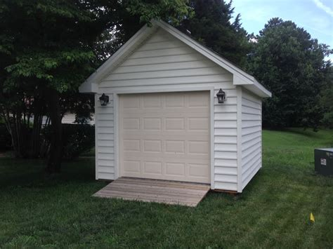 New Shed With Garage Door