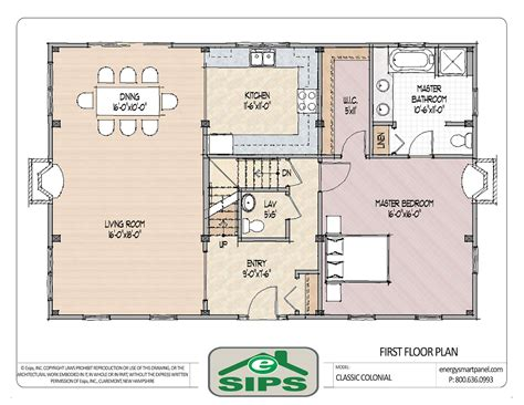 Open Floor Plan Colonial Homes