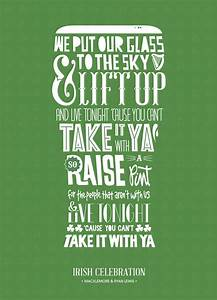 Typographic wor... Ireland Drinking Quotes