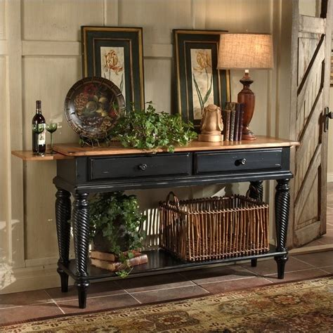 Black Buffet Table Sideboard by Wilshire Sideboard Table In Antique Black 4509sb