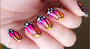 Butterfly nail art for beginners : Easy nail art designs for beginners step by