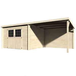 Abri De Bois : abri de jardin bois toit plat auvent 18 31 m ep 28 mm ~ Melissatoandfro.com Idées de Décoration