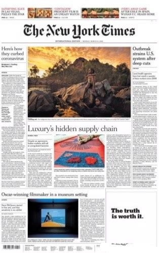 International New York Times - 16 March 2020 - Magazines ...
