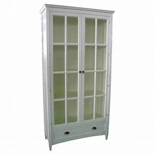 Barrister Bookcase with Glass Door in White - 9124W