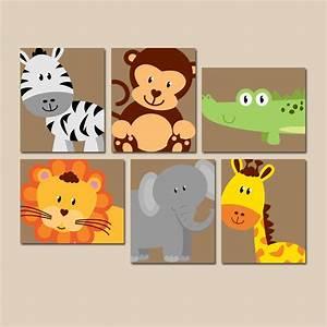 Safari animal wall art nursery artwork zoo jungle