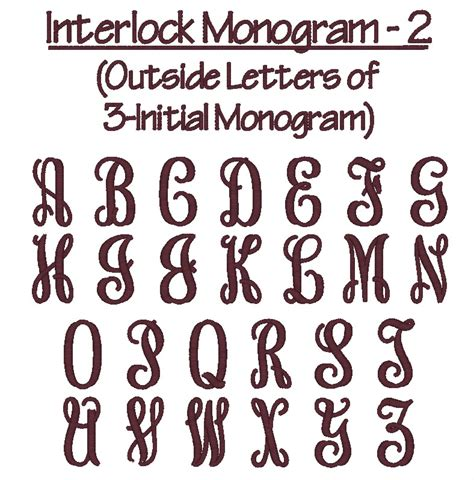 vine monogram truetype font images interlocking vine monogram font interlocking monogram