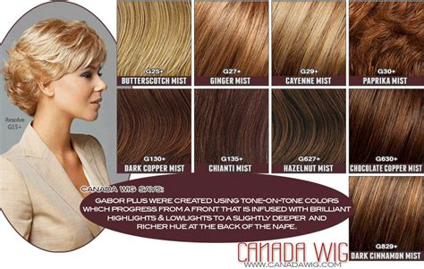 gabor  colors  luminous color charts canada wigs