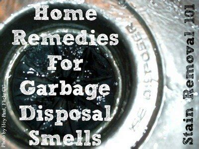 garbage disposal smells home remedies  fix  problem