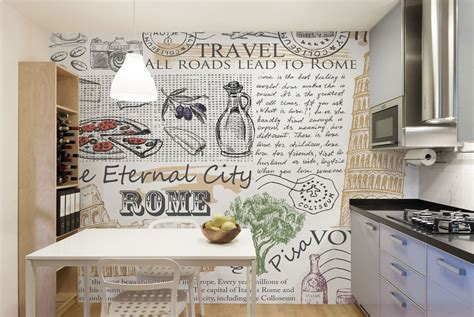 kitchen murals design kitchen mural wallpaper wallpaper bits 2331