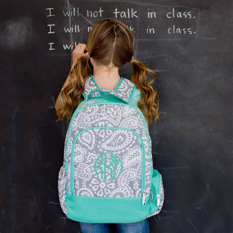 monogram perschool backpack parker paisley