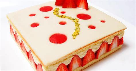 recette fraisier contemporain 750g