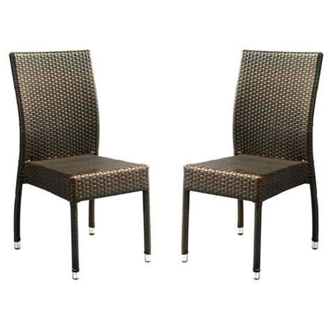 Safavieh Wicker Chairs by Safavieh Newbury Wicker Chair In Brown Set Of 2