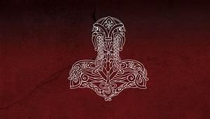 Thor's Hammer Wallpaper by CountLemmus on DeviantArt