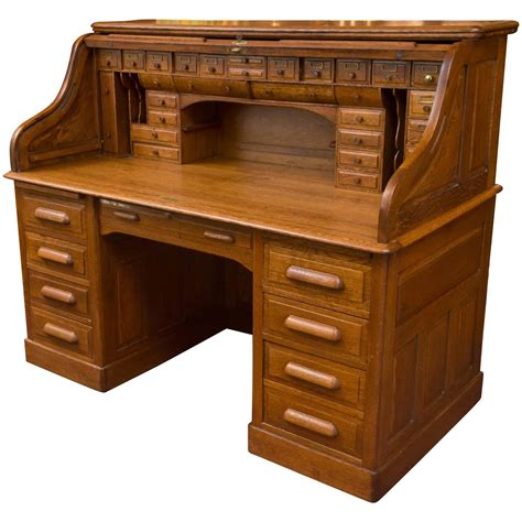 roll top desk used exceptional oversized s type oak roll top desk for sale at