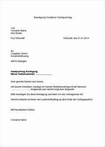 Vodafone Rechnung Email : vodafone k ndigung vorlage f r word ~ Themetempest.com Abrechnung