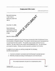 Employment Offer Letter (USA)  Legal Templates  Agreements, Contracts and Forms