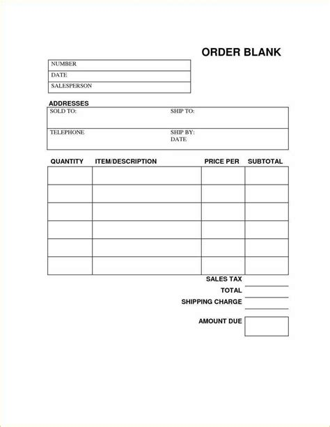 Free Printable Work Order Template Free Printable Work Order Template 4 Town Ken More