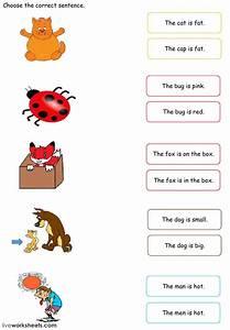 Simple Sentences Match Worksheet