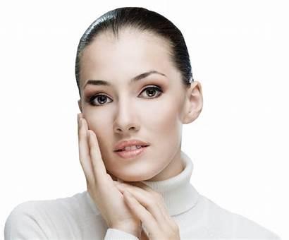 Face Touching Beauty Close Woman Portrait